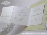zelena pozivnica na rasklapanje s prikazom teksta