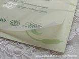 zelena pozivnica s bambusom detalj