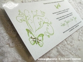 Pozivnica za vjenčanje Green Butterfly Line