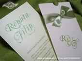 Pozivnica za vjenčanje Green Monogram Charm