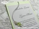 Pozivnica za vjenčanje Green Pearl Charm