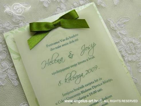 zelena pozivnica za vjenčanje