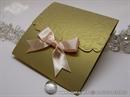 Pozivnica za vjenčanje - Peach Gold Classic